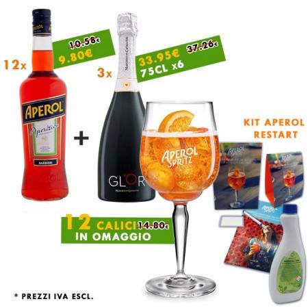 Promo Kit Spritz | 12x Calici Aperol + Kit Aperol Restart in omaggio