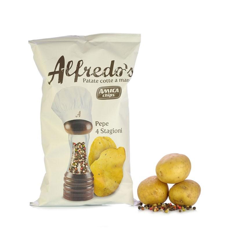 Patatine Amica Chips Alfredo Pepe Nero 150 gr