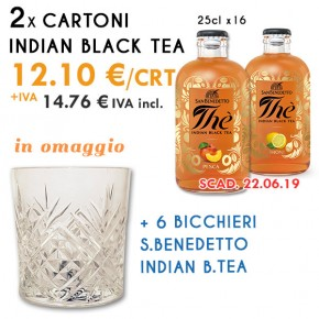 Promo 2x Indian Black Tea Limone/Pesca + 6x Bicchieri in omaggio