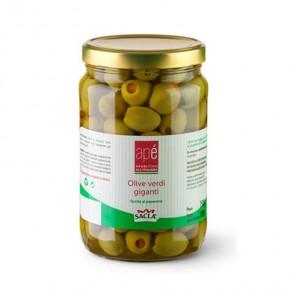 Apè Olive Verdi Giganti Farcite al Peperone 1,5 kg