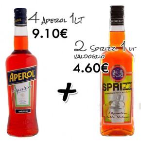 Promo 4x Aperol + 2x Aperitivo Sprizz Valdoglio