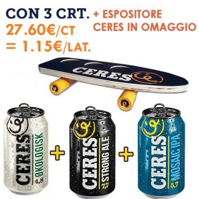 PROMO 3x Ceres Lattina 33cl + omaggio Espositore Ceres