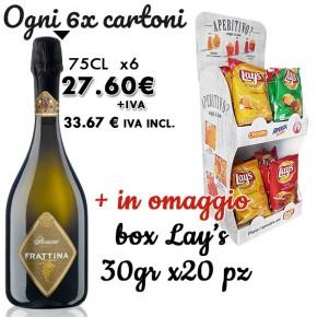 Prosecco DOC Frattina Brut x6 + omaggio Box Patatine Lay's