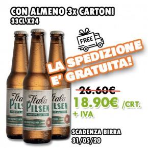 PROMO 3x Itala Pilsen 33cl x24 + SPEDIZIONE GRATUITA