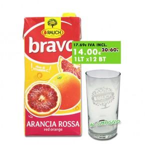 Promo 2x Conf. Rauch Arancia Rossa 2Lt x12 + omaggio 6 bicchieri